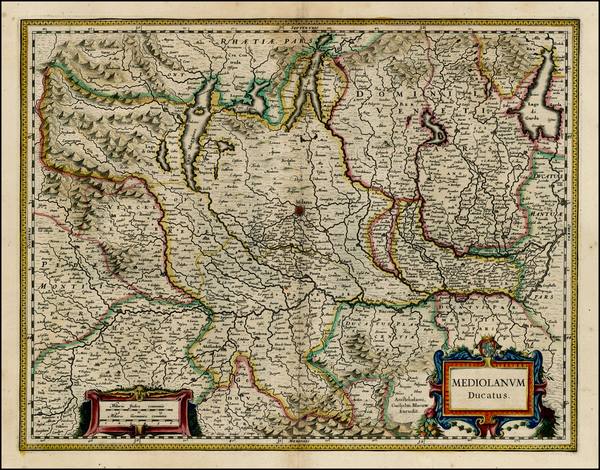 92-Italy and Northern Italy Map By Willem Janszoon Blaeu
