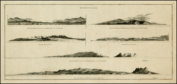 54-Hawaii and Hawaii Map By James Cook