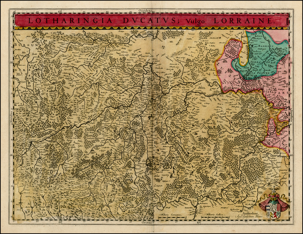 99-France Map By Willem Janszoon Blaeu