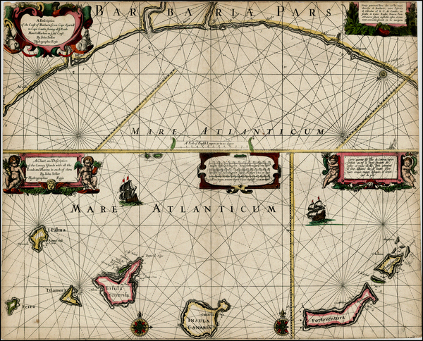 66-West Africa and African Islands, including Madagascar Map By John Seller