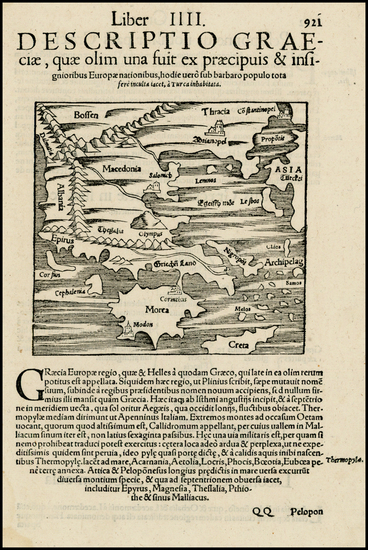 61-Greece and Balearic Islands Map By Sebastian Munster