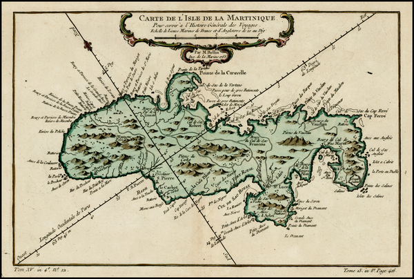 41-Caribbean and Other Islands Map By Jacques Nicolas Bellin