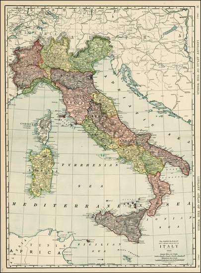 91-Italy Map By Rand McNally & Company