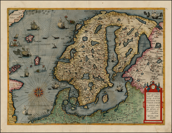 14-Atlantic Ocean, Europe, Russia, Baltic Countries and Scandinavia Map By Gerard de Jode