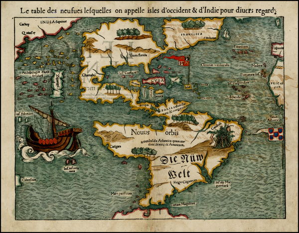 64-World, Western Hemisphere, North America, South America, Pacific and America Map By Sebastian M