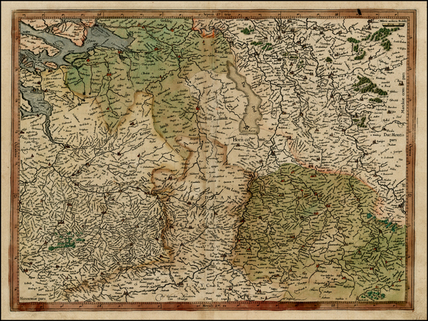 94-Netherlands and Belgium Map By  Gerard Mercator