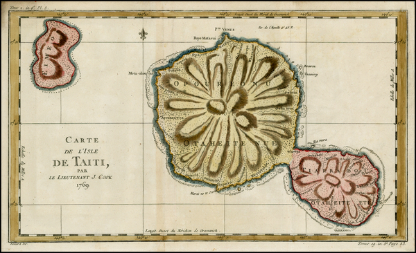 12-Australia & Oceania and Other Pacific Islands Map By Jacques Nicolas Bellin / James Cook