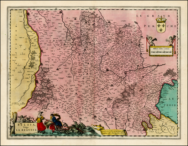 40-France Map By Willem Janszoon Blaeu