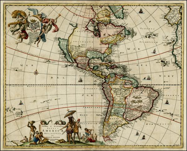 77-Western Hemisphere, South America and America Map By John Ogilby