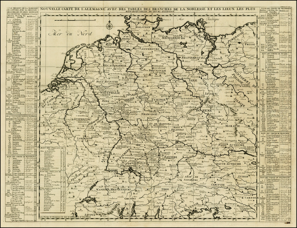3-Netherlands, Germany, Austria and Hungary Map By Henri Chatelain