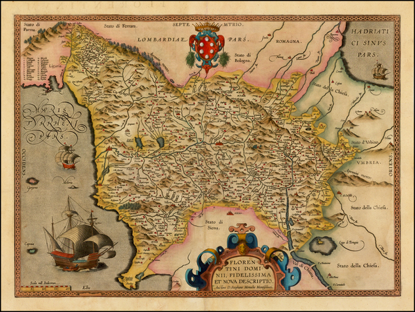 82-Italy Map By Abraham Ortelius