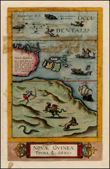 79-Asia, Southeast Asia, Australia & Oceania, Australia and Oceania Map By Cornelis de Jode