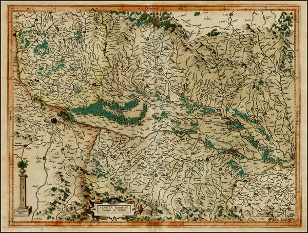 59-Switzerland, France and Germany Map By  Gerard Mercator