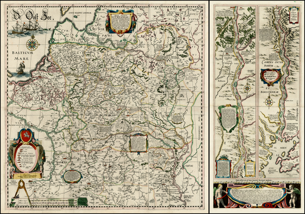 11-Poland, Russia, Ukraine and Baltic Countries Map By Willem Janszoon Blaeu / Hessel Gerritsz