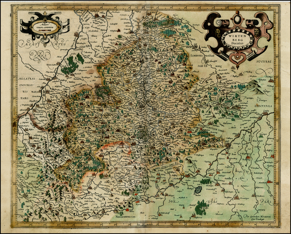 9-Germany Map By  Gerard Mercator