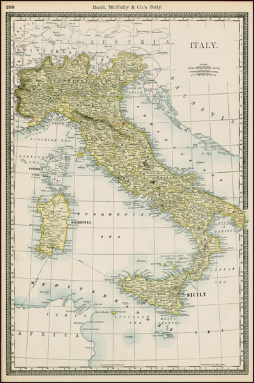 48-Italy Map By Rand McNally & Company