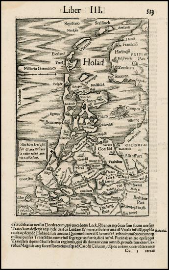 5-Netherlands Map By Sebastian Munster