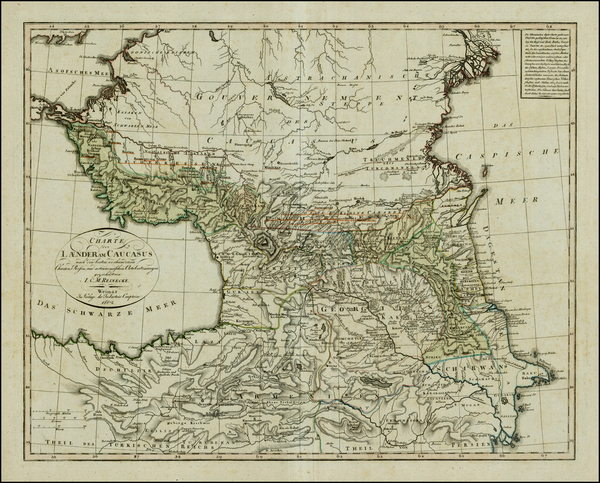 76-Russia, Ukraine, Central Asia & Caucasus and Turkey & Asia Minor Map By Iohann Matthias