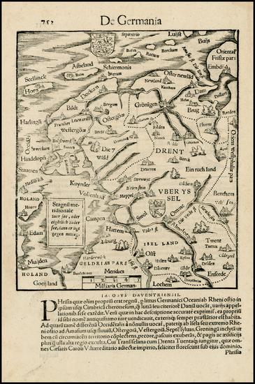 58-Netherlands Map By Sebastian Munster