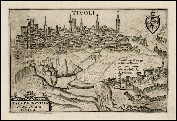 38-Italy and Other Italian Cities Map By Pietro Bertelli