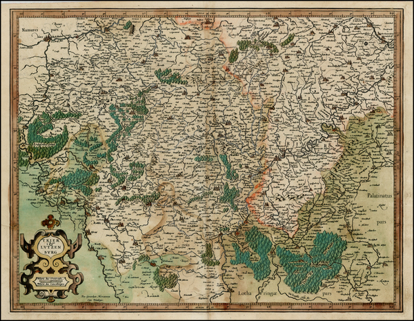 33-Luxembourg and France Map By  Gerard Mercator
