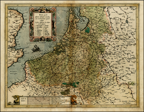 73-Netherlands and Luxembourg Map By  Gerard Mercator