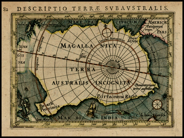 32-Southern Hemisphere and Polar Maps Map By Petrus Bertius