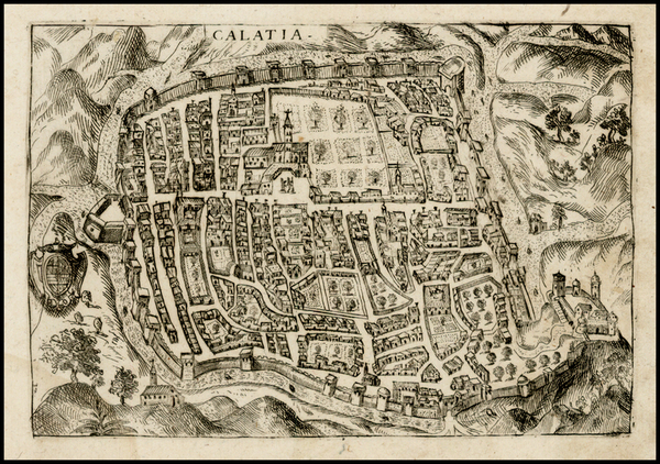 27-Italy, Southern Italy and Other Italian Cities Map By Pietro Bertelli