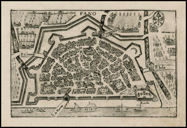 37-Italy Map By Pietro Bertelli