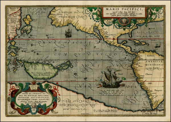 49-Western Hemisphere, Polar Maps, South America, Pacific, Australia, Oceania and America Map By A
