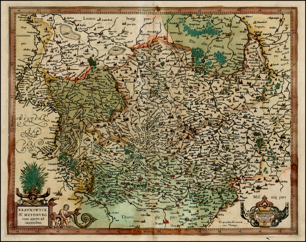46-Germany Map By  Gerard Mercator