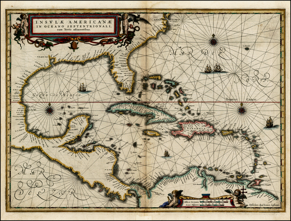58-South, Southeast, Caribbean and Central America Map By Jan Jansson