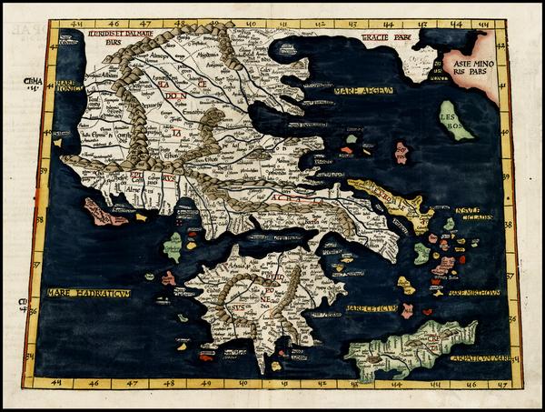 89-Greece Map By Lorenz Fries
