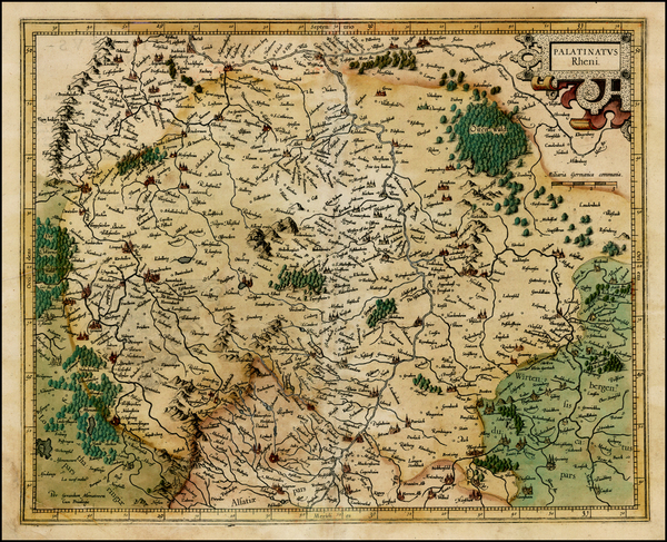97-Germany Map By  Gerard Mercator