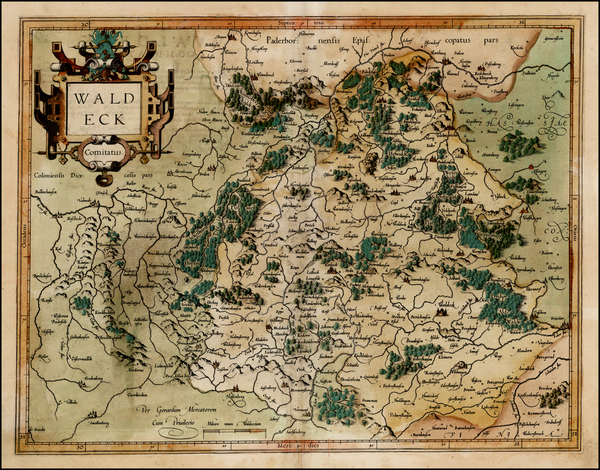 66-Germany Map By  Gerard Mercator