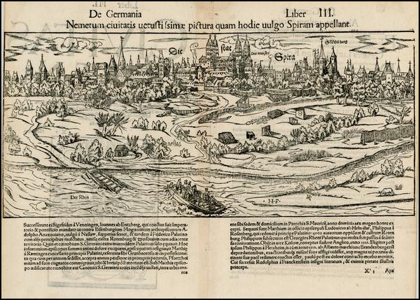 82-Germany Map By Sebastian Munster