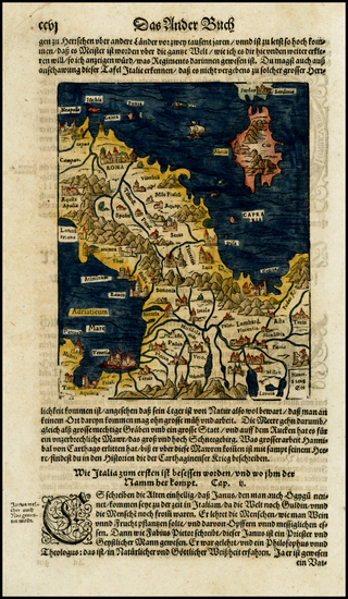 25-Italy and Balearic Islands Map By Sebastian Munster