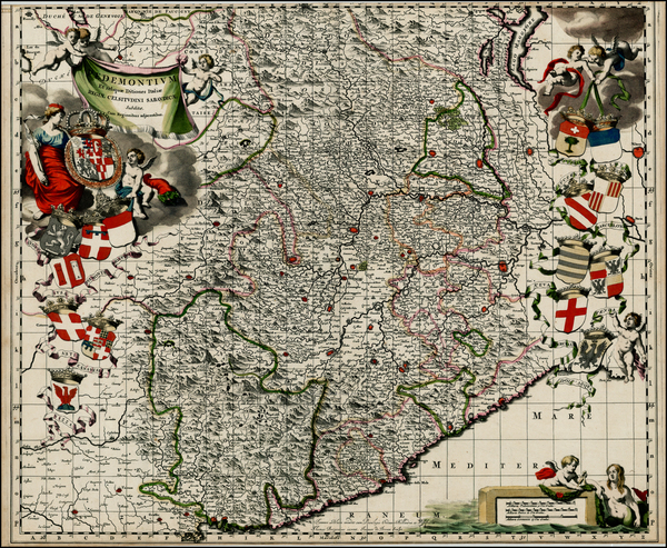 5-Northern Italy Map By Johannes Blaeu