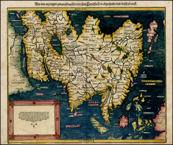 50-Indian Ocean, Asia, Asia, Japan and Southeast Asia Map By Sebastian Munster