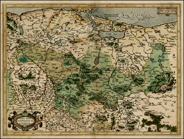 47-Germany and Poland Map By  Gerard Mercator