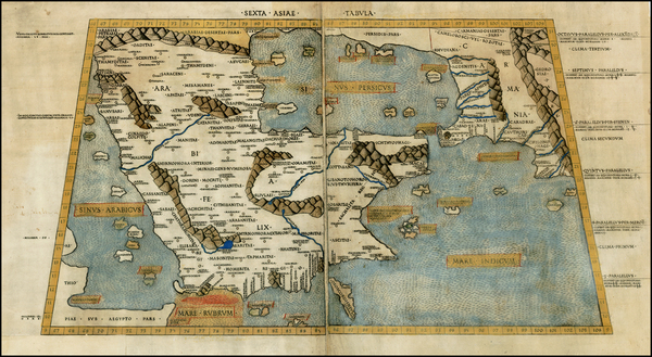 44-Middle East Map By Claudius Ptolemy