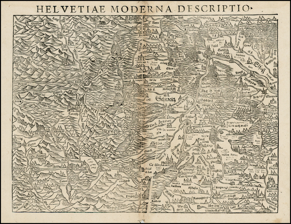 99-Switzerland Map By Sebastian Munster