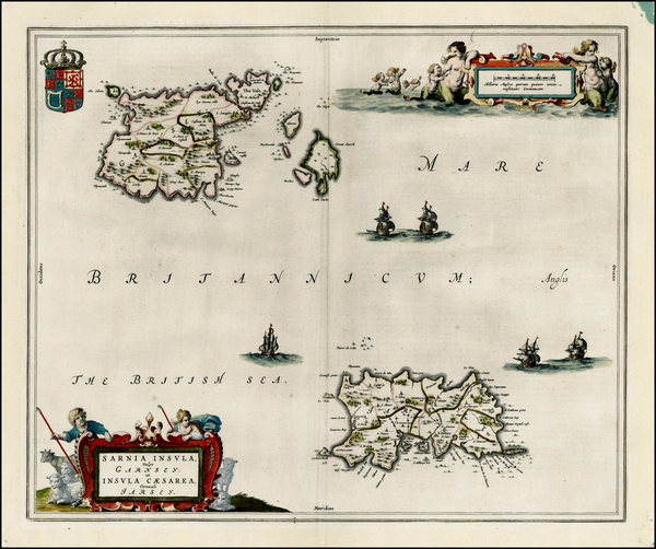 90-British Isles and British Counties Map By Johannes Blaeu