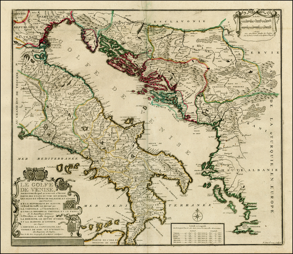 19-Austria, Balkans and Italy Map By Nicolas de Fer / Guillaume Danet