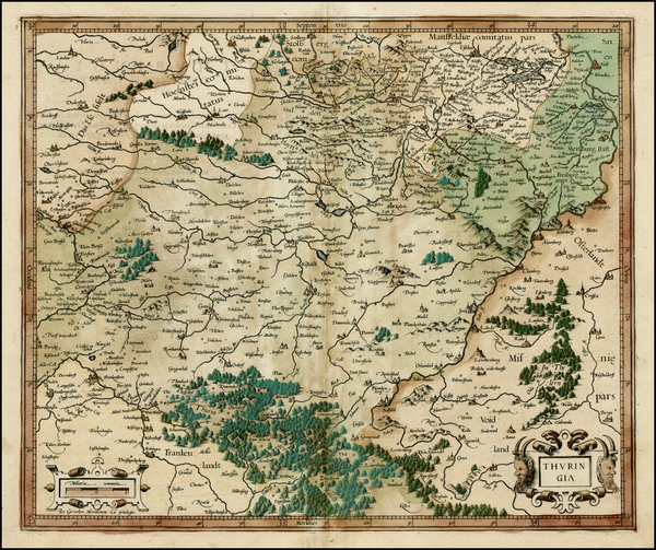 82-Germany Map By  Gerard Mercator