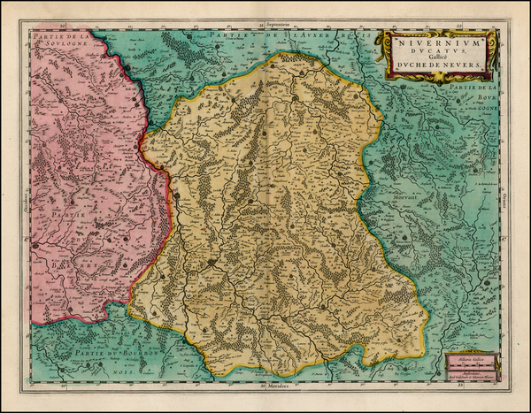 52-France Map By Willem Janszoon Blaeu