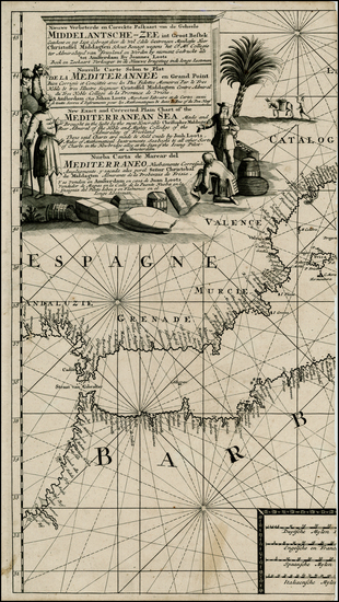 99-Spain, Balearic Islands, North Africa and African Islands, including Madagascar Map By Johannes