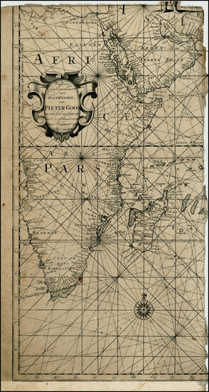 80-Middle East, Africa, East Africa and African Islands, including Madagascar Map By Johannes Loot