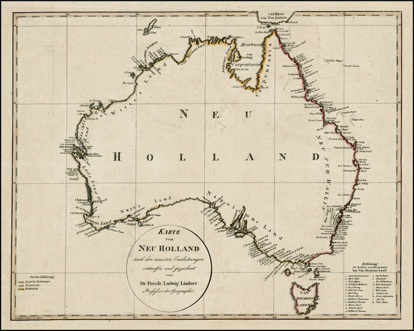 1-Australia Map By Friedrich Ludwig Lindner