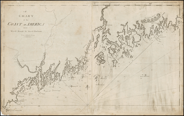 27-New England, Maine and Canada Map By William Norman